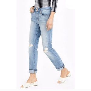 NWT J. Crew Broken In Boyfriend Slim Cropped Jeans